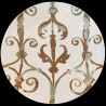 Grand plat rond creux faïence motif Fenêtre