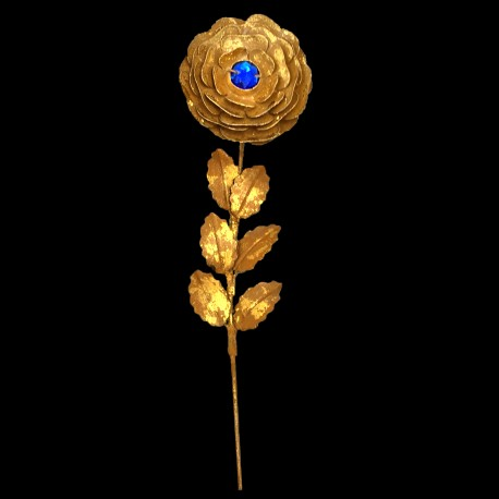 Rose d'or coeur de Saphir (brin)