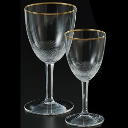 Crystal stemmed glass for the water 280ml ROYAL collection