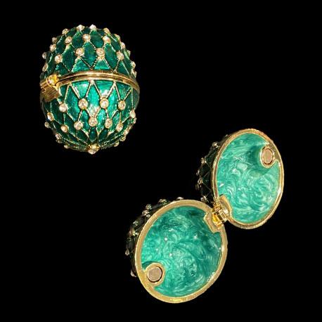 Egg box Fabergé style green
