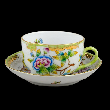 Tea cup and saucer Victoria Herend