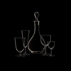 Verre à eau à pied bas cristal collection n°4