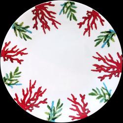 Assiette de table porcelaine Corail