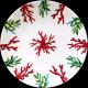 Porcelain dessert plate Red Coral