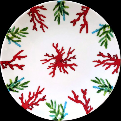 Assiette à dessert porcelaine Corail