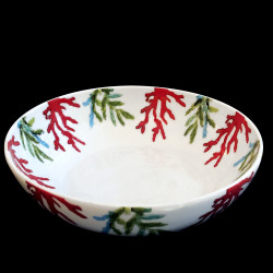 Porcelain deep plate Red Coral