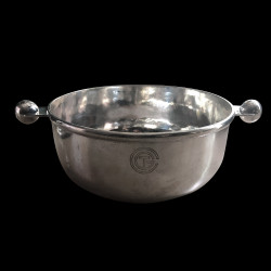Saladier CGT Luc Lanel art déco métal argenté D 26.5 cm H 12 cm