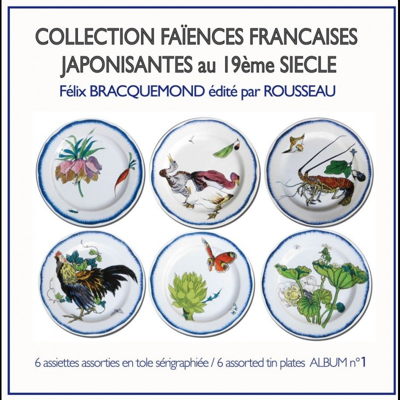 Coffret de 6 assiettes différentes N°1 ...  sc 1 st  Au Bain Marie & Box of 6 decorative tin plates