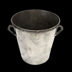 Champagne bucket with crossed ribbons, silver plated