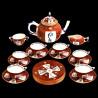 Service à thé Godollo en Porcelaine Herend, 6 personnes