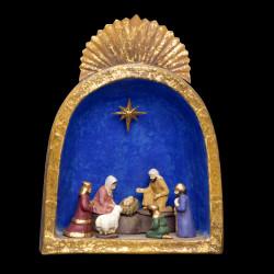 Crèche Alcôve bleu