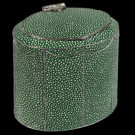 English shagreen Tea Caddy, Georges III style