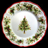 Majolica christmas tree dinner plate Red nose