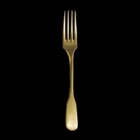 Fourchette de table acier brossé doré