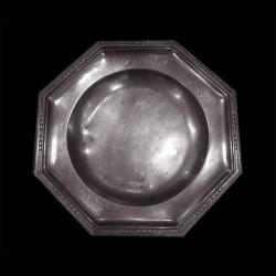 Plat octogonale petit modèle, environ 27 x 27 cm