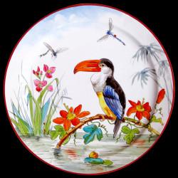 "Tin plate ""The Birds"" Buffon Toucan"