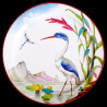 """Assiette en tôle """"Les Oiseaux"""" Grand héron"""