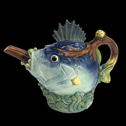 Minton Majolica Fish Teapot Limited Edition
