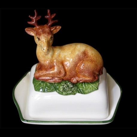 Stag, butter dish