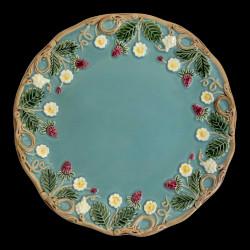 "Assiette à dessert turquoise ""George Sand"""