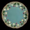 """Assiette à dessert faïence turquoise """"George Sand"""""""
