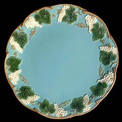 """Assiette de table turquoise """"George Sand"""""""