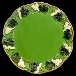 "Assiette de table verte ""George Sand"""