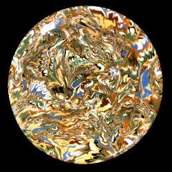 Assiette à dessert ronde multicolore terre mêlée collection Epice forme disque