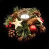 Couronne Noël sapin baie pin 34x8x34cm