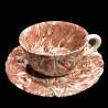 Tea cup and saucer terre mêlée Red