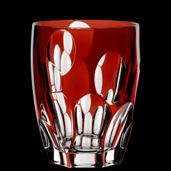 Red crystal Sphere thumbler glass