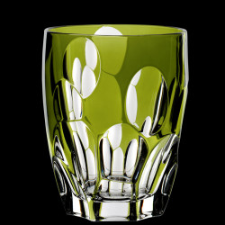 Green crystal Sphere tumbler glass