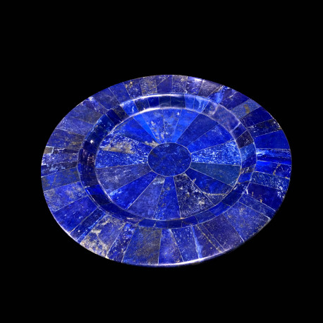 Assiette dessert en Lapis Lazuli
