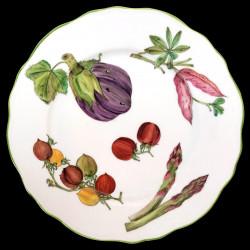 Assiette de table bois mélangés collection porcelaine de Limoges