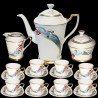 "Porcelain Coffee Set ""Sirenas"" 8 cups, by Dali, n°520, 1977"