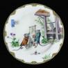 """Assiette en tôle """"Le Village secret des souris"""" Souris avec panneau"""