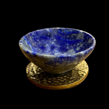 Petite salière en lapis lazuli