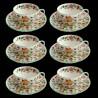 Ensemble de 6 tasses à thé et sous-tasses Minton Haddon Hall