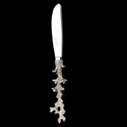 Couteau manche Corail en étain