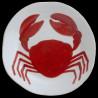 Majolica dinner plate crab