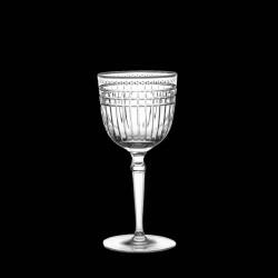 Verre à vin blanc cristal taillé et platine