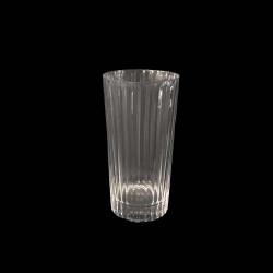 Verre Gobelet haut en cristal côtelé