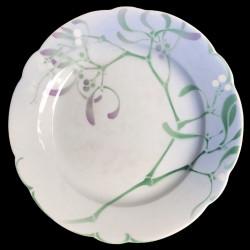 """Assiette de table en faïence """"Gui"""" par Edmond Lachenal"""