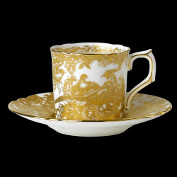 Royal Crown Derby Aves Gold Coffee cup & saucer