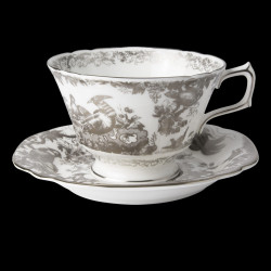 Royal Crown Derby Aves Platinum Breakfast Cup & Saucer
