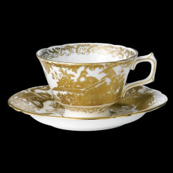 Royal Crown Derby Aves Gold Breakfast Cup & Saucer