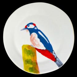 Woodpecker dinner plate