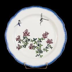 Bracquemond Dragonfly & Branch in flower plate D 25 cm