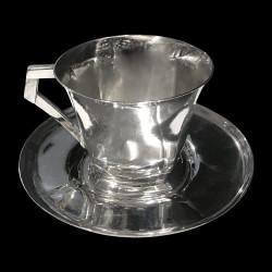 Gallia tasses Sue et Mare Christofle métal argenté