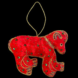 Embroidered red bear